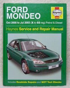 Ford Mondeo Haynes Workshop Manual. Petrol & Diesel. 2000 - 2003. Clean, Unused.