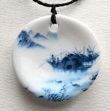 Hand paint Art porcelain,ceramic Pendant focal bead,47mmX47mm