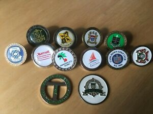 12 Golf Ball Markers including a Scotty Cameron & US Senior Open