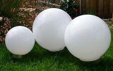 Kugelleuchte 3er Set 30,25,20cm Solar LED Gartenkugel Garten Leucht Kugel Lampe