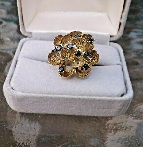 14K Gold & Sapphire Ring Size 7