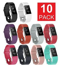 10-PACK Fitbit Charge 2 Wristband Silicone Bracelet Strap Band