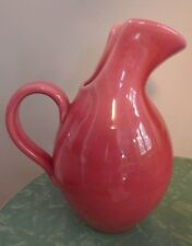 VALLAURIS pink glazed Pitcher French Art Pottery Made France