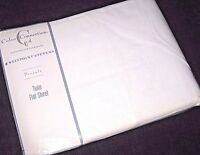 NIP / New Vintage Solid White TWIN Size Flat Bed Sheet Made in USA by Westpoint