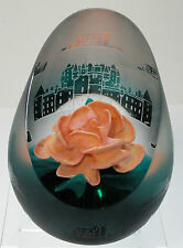 Caithness Rose Tapestry Paperweight 2000 Ltd Ed. Terris with Cert.