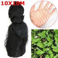 10X10m Anti Bird Net Protect Crops Fruit Plant Tree Garden Mesh Pond Black Knit