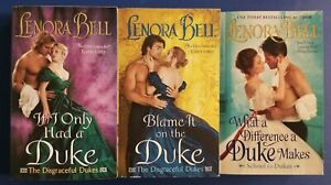 3 Steamy LENORA BELL Historical LORDS & LADIES Romance Books DISGRACEFUL DUKES
