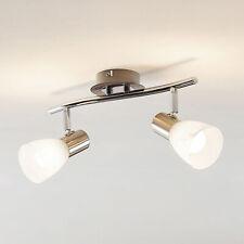 LED Deckenleuchte Kamiran ELC Zweiflammig Strahler Decke Glas Edelstahl E14 LED