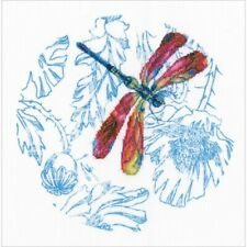 Red Dance of The Dragonfly Stamped Cross Stitch Kit RTO NEW poppy round printed