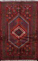 Geometric Hamedan Handmade Traditional Area Rug Wool Oriental Kitchen Carpet 3x5