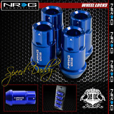 "FOR CIVIC ACCORD/MUSTANG BLUE 4 X NRG ANODIZED M12 X P1.5 1.75""L LUG NUT LOCKS"