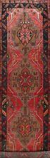 Vintage Geometric Traditional Tribal Runner Rug Handmade Oriental 4x14 Carpet