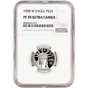 1998 W American Platinum Eagle Proof 1/4 oz $25 - NGC PF70 UCAM