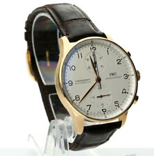 IWC Portuguese watch # IW371402 18K rose gold 40 MM + box papers leather strap!!