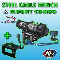 Polaris Sportsman ACE 325 500 570 900 2500lb KFI Steel Winch Mount Combo