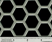 "CCG UNIVERSAL 16"" x 48"" HD PERF HEXAGON ALUMINUM GRILL GRILLE MESH SHEET SILVER"