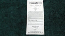 AMERICAN FLYER # M2667 # 697 PRESSURE TRACK SWITCH INSTRUCTIONS PHOTOCOPY