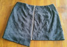 TbyBettina Liano black embossed skirt sz12 preowned excellent cond free post D37