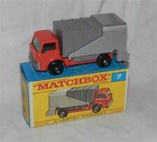 1960s. LESNEY MATCHBOX .7, FORD rifiutare. CAMION, spazzatura. TRASH. Nuovo di zecca con scatola; originale