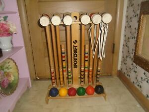 Vintage Sportcraft 6-Player Croquet Set with Stand COMPLETE Set