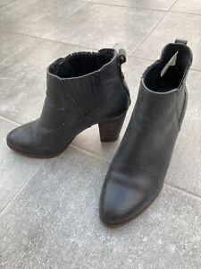 UGG Australia Poppy Heeled Genuine Leather Ankle Boots  UK 4.5 EU37 -RRP£155