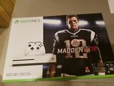 NEW Microsoft Xbox One S 500GB Madden NFL 18 Bundle - White