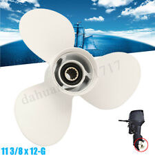 Boat Propeller 3 Blades 11 3/8 X 12-G Engines Prop Aluminium for Yamaha 40-60HP