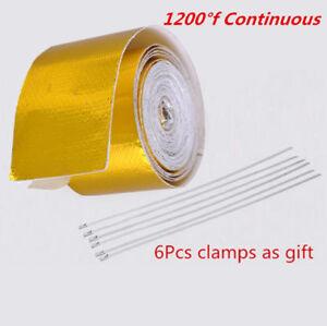 Car Fiberglass Self Adhesive Gold 1200°f High Temperature Heat Shield Wrap Tape