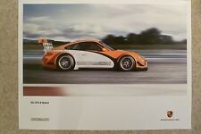 2010 Porsche 911 GT3 R Hybrid Showroom Advertising Poster RARE!! Awesome L@@K