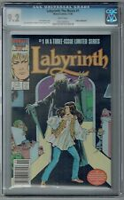 LABYRINTH #1 CGC 9.2 NM- WP MARVEL COMICS LIMITED SERIES 1986 NEWSSTAND BOWIE