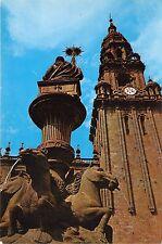 BR21552 Fuente de Platerias y Torre del reloj Santiago de Compostela  spain