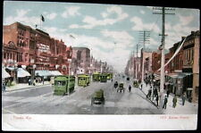 TOPEKA Kansas ~ 1907 KANSAS AVENUE ~ Lot of Trolleys ! Horse Pulled Wagons