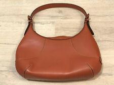 Cole Haan Brown Tan Leather Handbag Purse Arm Bag Medium (A1)