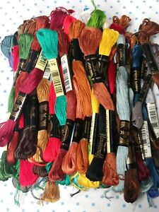 VINTAGE DMC 100 SKEINS LOT EMBROIDERY CROSS STITCH FLOSS NEW #2