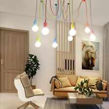 4/6/8 Head Colorful Pendant Light DIY Chandelier Silicone Hanging Ceiling Lamp