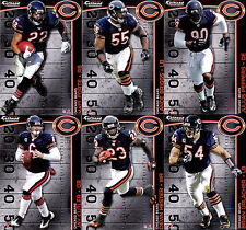 Complete Set of 6 Chicago Bears NFL Fathead Tradeables