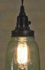 Industrial Pendant Light Lamp Vintage Rustic Half Gallon Open Bottom Mason Jar