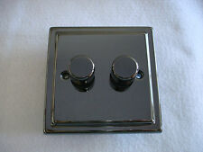 2 Gang 2 Way 250W Dimmer Switch In Black Nickel