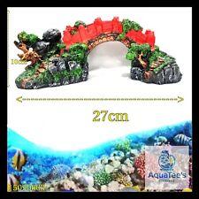 AQUARIUM FISH TANK BRIDGE DECORATION 27 CM ORNAMENT AQUA MARINE FRESH WATER