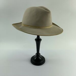 """Vintage Distressed Stetson The Open Road 3X Beaver Taupe 21 3/4"""" Circumference"""