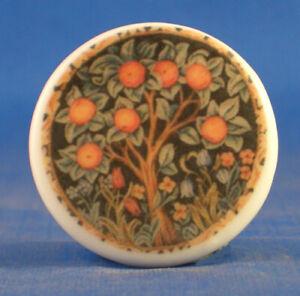 Birchcroft China Button -- William Morris Orange Tree - One Inch Size ( 25 mm )