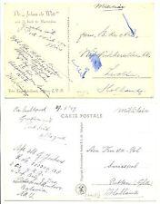 NED INDIE S.M.N. 1947-6-9  2 x PPC SHIP = S.S. JOHAN DE WITT= MILITAIR  F/VF