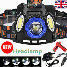 15000lm CREE XML T6 Zoomable Headlamp Head Light Torch Lamp 18650 Charger