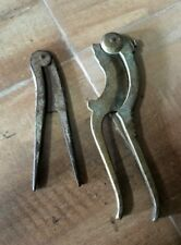 Vintage Old Brass 2 Pc Hand Carved Beautiful Betel Nut Cutter Sarrota