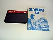 Sega master Rambo iii Rambo 3 with manual tested collectors estate