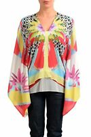 Just Cavalli Silk Multi-Color Dolman Sleeve Women's Blouse Top Sz S M