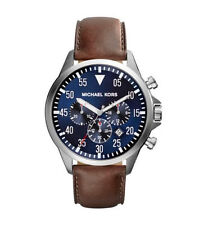 Michael Kors Men's Gage Quartz Stainless Steel/Brown Leather Watch MK8362