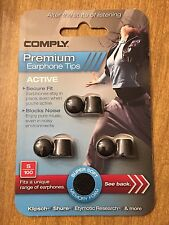 NEW Comply S-100 Premium Earphone Earbud Replacement Tips Charcoal Sz. Medium