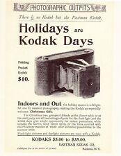 "Eastman Kodak 1898 FOLDING POCKET Model CAMERA Antique Vintage 8x10"" REPRINT AD"
