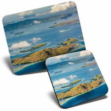 Mouse Mat & Coaster Set - Komodo Island Indonesia Beach  #21770